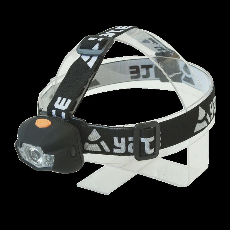 Yate 3W CREE+2 LED černá čelová svítilna