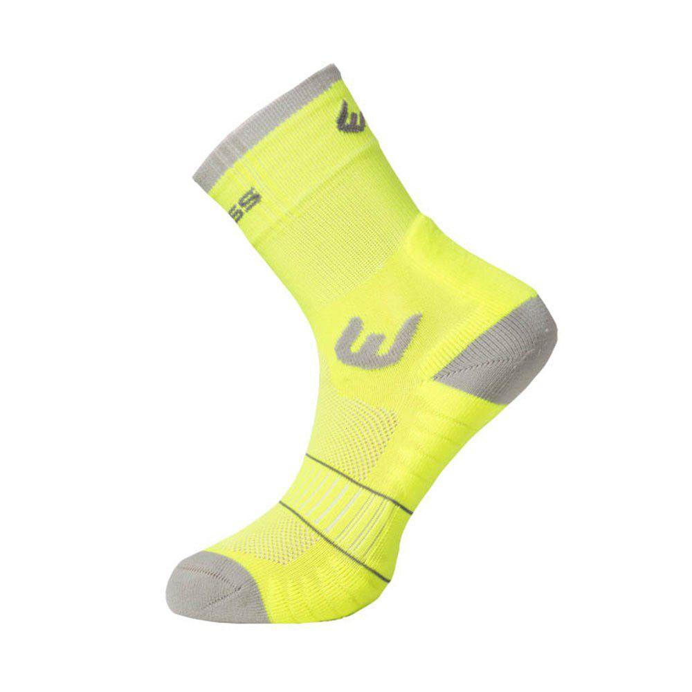 Progress WALKING letní turistické ponožky reflexní žlutá/šedá