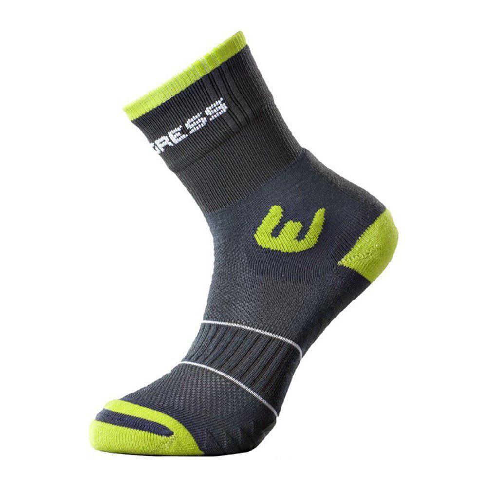 Progress WALKING letní turistické ponožky šedá/zelená